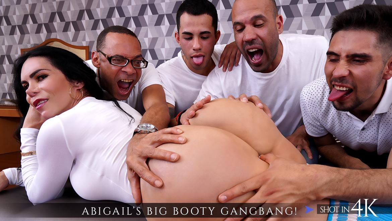 Latina Big Booty Gangbang